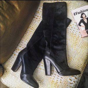 Derek lam Crosby calf hair knee high boots